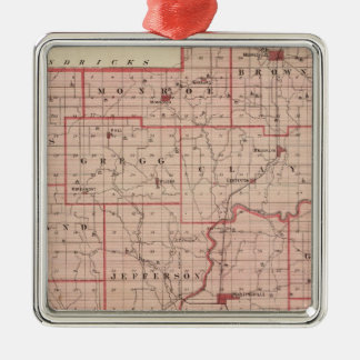 Map of Morgan County with Mooresville Christmas Ornament