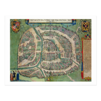 Map of Moscow, from 'Civitates Orbis Terrarum' by Postcard