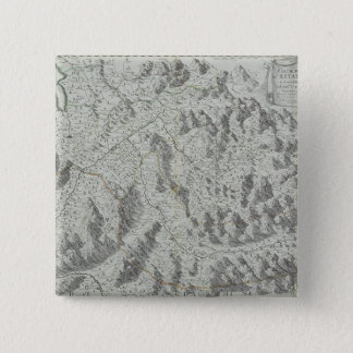Map of Mountains 15 Cm Square Badge