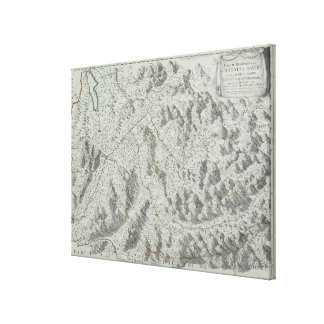 Map of Mountains Canvas Print