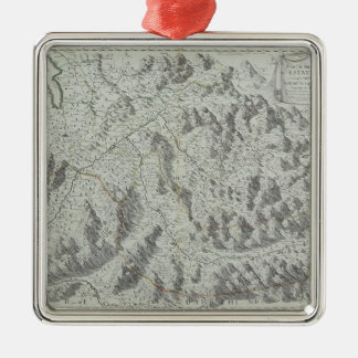 Map of Mountains Christmas Ornament