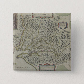 Map of Mountains in Virginia, USA 15 Cm Square Badge