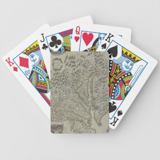 Map of Mountains in Virginia, USA Bicycle Playing Cards