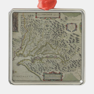 Map of Mountains in Virginia, USA Christmas Ornament