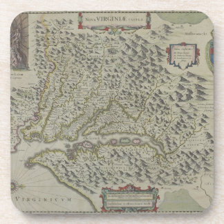 Map of Mountains in Virginia, USA Coaster