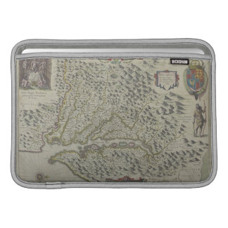 Map of Mountains in Virginia, USA MacBook Sleeve