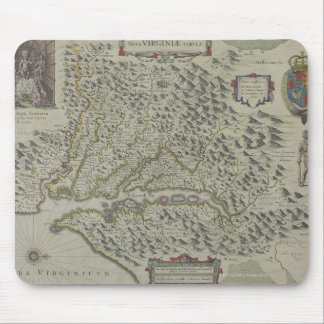 Map of Mountains in Virginia, USA Mouse Mat