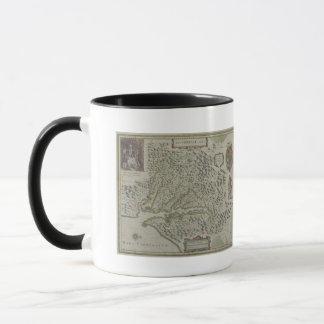 Map of Mountains in Virginia, USA Mug