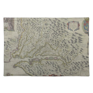 Map of Mountains in Virginia, USA Placemat