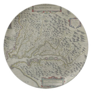Map of Mountains in Virginia, USA Plates