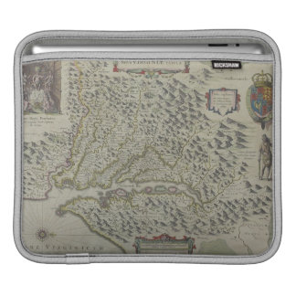 Map of Mountains in Virginia, USA Sleeves For iPads