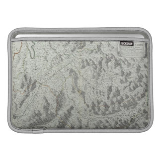 Map of Mountains MacBook Sleeve