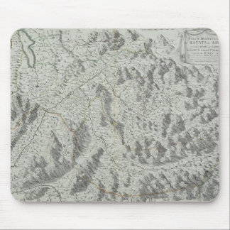 Map of Mountains Mouse Mat