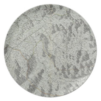 Map of Mountains Party Plates
