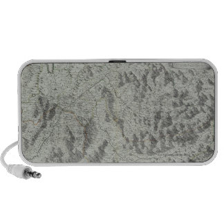 Map of Mountains Notebook Speakers