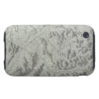 Map of Mountains Tough iPhone 3 Cases