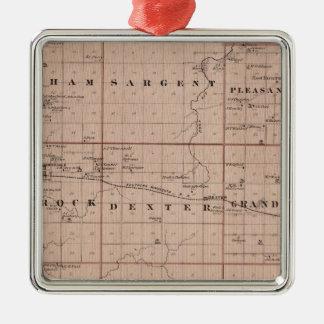 Map of Mower County, Minnesota Christmas Ornament