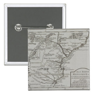 Map of Mozambique, Africa 15 Cm Square Badge
