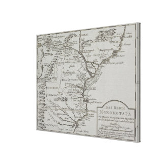 Map of Mozambique, Africa Canvas Print