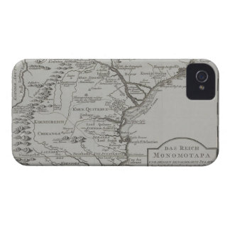 Map of Mozambique, Africa Case-Mate iPhone 4 Cases