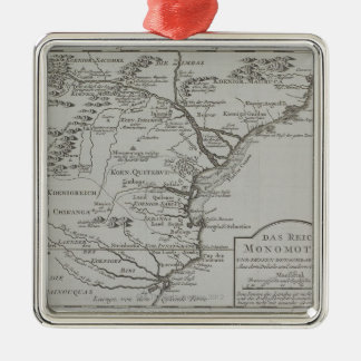 Map of Mozambique, Africa Christmas Ornament