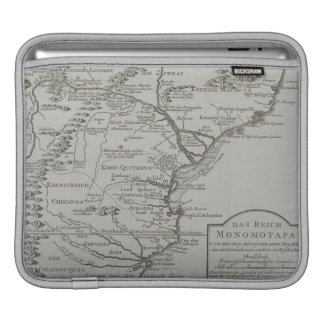 Map of Mozambique, Africa iPad Sleeve