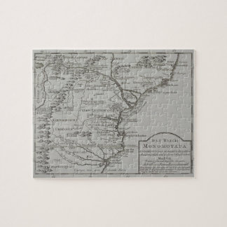 Map of Mozambique, Africa Jigsaw Puzzle