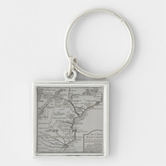 Map of Mozambique, Africa Key Ring