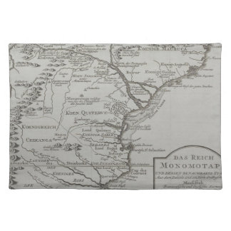 Map of Mozambique, Africa Placemat