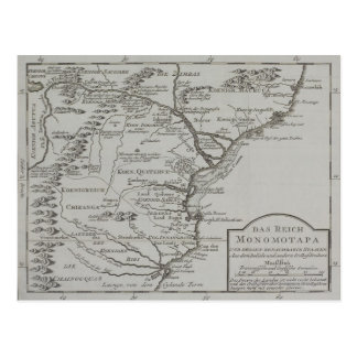 Map of Mozambique, Africa Postcard