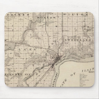 Map of Muscatine County Mouse Mat