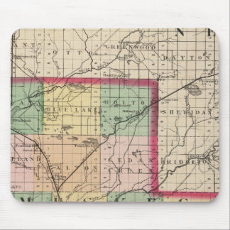 Map of Muskegon County, Michigan Mouse Mat