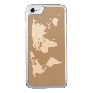 Map of My World - Carved iPhone 8/7 Case