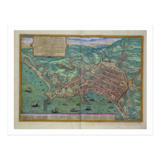 Map of Naples, from 'Civitates Orbis Terrarum' by Post Card
