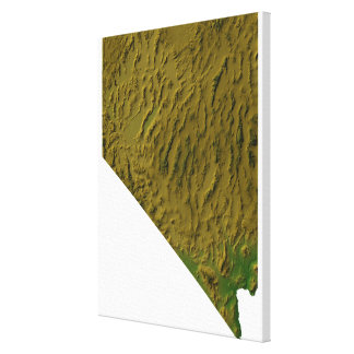 Map of Nevada Canvas Print