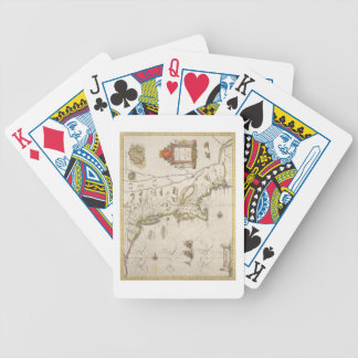 Map of New Belgium and New England, pub. in Amster Bicycle Playing Cards