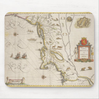 Map of New Belgium and New England, pub. in Amster Mouse Mat