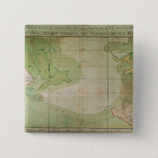 Map of New Discoveries 15 Cm Square Badge