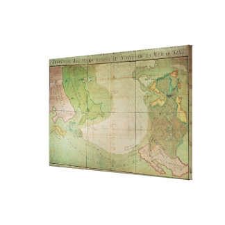 Map of New Discoveries Canvas Print
