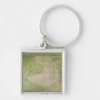 Map of New Discoveries Key Ring
