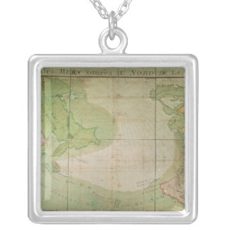 Map of New Discoveries Silver Plated Necklace