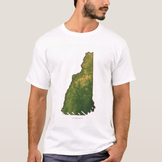 Map of New Hampshire 2 T-Shirt