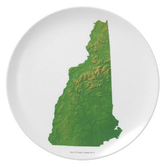 Map of New Hampshire Plate
