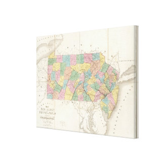 Map of New Jersey And Pennsylvania Canvas Print