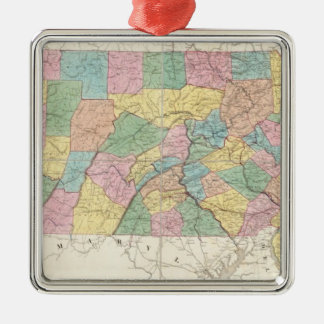 Map of New Jersey And Pennsylvania Christmas Ornament
