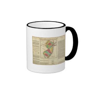 Map Of New Jersey Coffee Mugs
