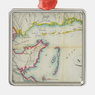 Map of New Orleans and Adjacent Country Christmas Ornament