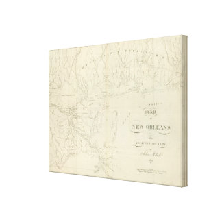 Map of New Orleans Canvas Print