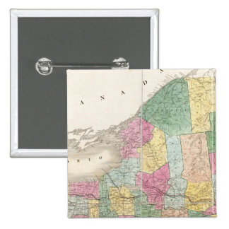 Map of New York 15 Cm Square Badge