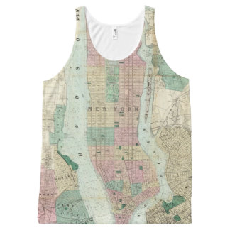 Map of New York and Vicinity All-Over Print Tank Top